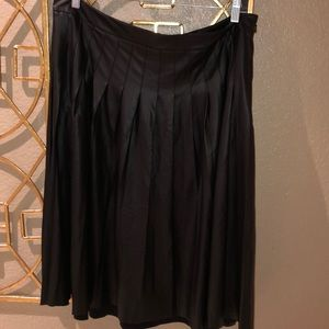 Lane Bryant pleated circular faux leather skirt